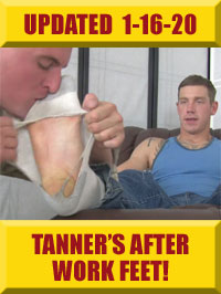Jock Foot Fantasy - Tanner's After Work Feet Worshiped!