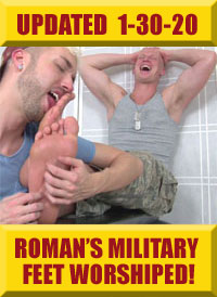 Jock Foot Fantasy - Roman's Military Feet Worshiped & Tickled!