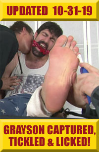 Jock Foot Fantasy - Grayson Captured, Gagged, Tickled & Worshiped!