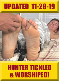Jock Foot Fantasy - Hunter Tickled & Worshiped!