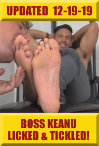 Boss Keanu Worshiped & Tickled