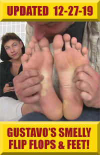 Jock Foot Fantasy - Gustavo's Smelly Flip Flops & Feet!