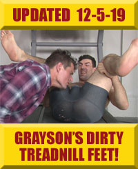 Jock Foot Fantasy - Grayson's Dirty Treadmill Feet & Farts!