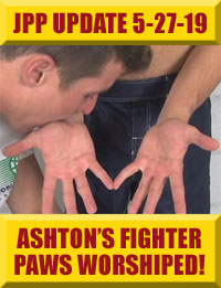 Jock Pits & Paws - Ashton's Fighter Gloves & Paws Worshiped