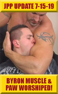 Jock Pits & Paws -  Boss Byron Muscle & Paw Worshiped!