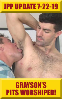 Jock Pits & Paws - Grayson's Hairy, Smelly Pits Worshiped!