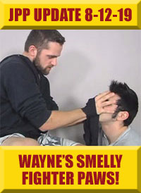 Jock Pits & Paws - Wayne's Smelly Handwraps & Paws Worshiped!